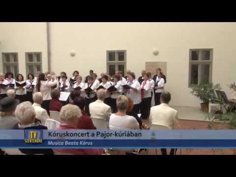 TV Szentendre /  Kóruskoncert a Pajor-kúriában - Musica Beata Kórus  1. rész / 2015.09.21.