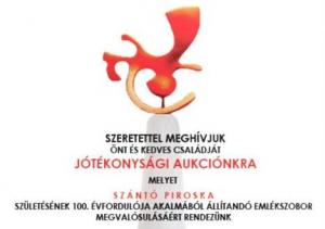 Aukció Szántó Piroska emlékszobráért
