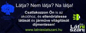 Ingyenes látásvizsgálat és autó ellenőrzés Szentendrén is a Látni és Látszani kampány keretében.