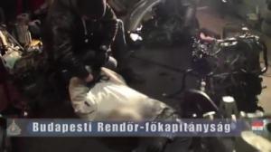 Illegális autóbontó a volt szentendrei, orosz laktanyában