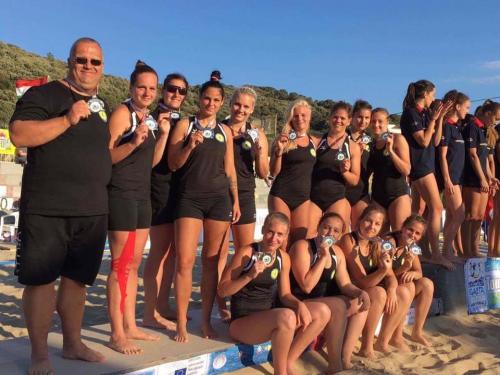 Ezüstérmes lett az NKE csapata a Strandkézilabda Európa-bajnokságon!