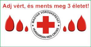 Meghívó véradásra!  Adj esélyt, adj vért!